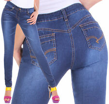 Ladies Stretch Jeans Trousers Tube Skinny Slim Plus Size Low-rise C56