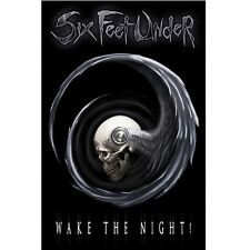 * SIX FEET UNDER - WAKE THE NIGHT LOGO - OFFICIAL TEXTILE POSTER FLAG