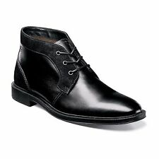 Stacy Adams Mens Black Delaney Plain Toe Leather Chukka Formal Dress Trendy Boot