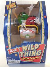 2002 M&M's Wild Thing Roller Coaster Dispenser Silver Front Roller Coaster MIB