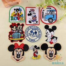10pcs Cartoon Mickey Minnie Embroidered Applique Sew Iron on Patches