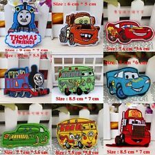 10pcs/set Cartoon Cars Embroidered Applique Sew Iron on Patches