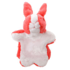 Cartoon Plush Bunny Hand Puppet for Boy and Girl Interactive Game Toy