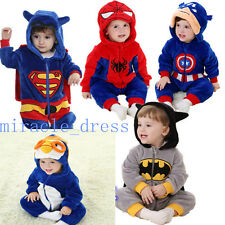 Baby Super Hero Costume Clothes romper Halloween Party Outfit  Fancy Dress 0-3Y