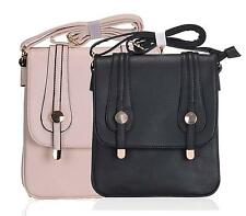 New Ladies Saddle Buckle Fashion Cross Over Shoulder Strap Messenger Satchel Bag