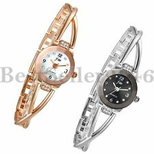 Luxury Womens Ladies Rhinestone Dial Bracelet Watch Quartz Analog Wrist Watches