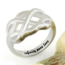 """Couples Ring Infinity Ring, Promise Ring Infinity Symbol Ring """"Infinity Pure Lov"""