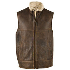 Men's Leather & Sheepskin Gilet Jacket - Harvey Gilet Bodywarmer