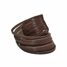 Double Wrap Handcrafted Bracelet / Leather Wrist Cuff, Brown Leather Bracelet