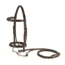 Vespucci Fancy Stitched Padded Hunter Bridle - Brown - Horse & Cob