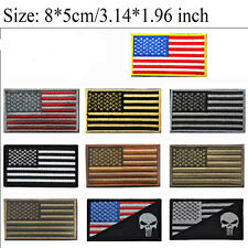 USA Flag Embroidered Iron Sew On American Patch United States of America Badge