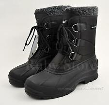 """LABO Men's Black 9"""" Winter Snow Hunting Work Boots Shoes Waterproof Insulated107"""