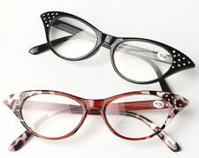 Cat Eye Womens Crystals Vintage Retro Reading Glasses Reader +1+2+3+3.5