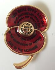 Gorgeous Poppy Brooch Badge Pins Poppies  Enamel Remembrance Day