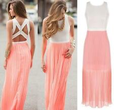Sexy Maxi Dress Summer Beach Evening Party Sundress Women Boho Cocktail Long