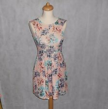 Brand New Evita Pink Floral Skater Dress Ladies Fashion Flower Night Out Classy