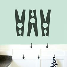 Set Of Clothespins Wall Decals