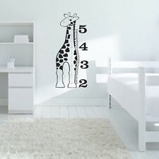Giraffe Growth Chart Wall Decals Wall Stickers