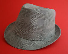 Check Patterned Trilby Mens Hat , 3 Sizes available (Small to Medium) Only £9.99