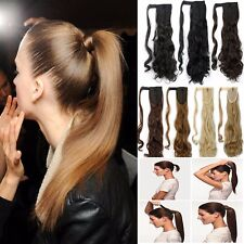 Clip In Ponytail Pony Tail Hair Extension Claw in On Hair Piece Curly As Human