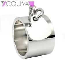 Free Shipping Size 6-11 Brands Ring Romantic Stainless Steel Heart Pendant Rings