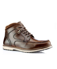 RED TAPE NORE BROWN MENS LEATHER LACE UP ANKLE BOOTS