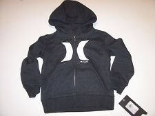 New Hurley youth boys zipper zip front heather gray hoodie jacket boys sz 6 or 7