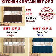 Kitchen Curtain Set of 2 Bedroom Window Curtains Living Room Decor Home NEW