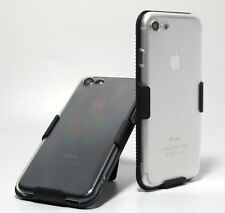 { Clear / Transparent Gel Case } with Swivel Belt Clip Holster for iPhone 7
