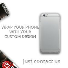Design Your Own Custom TPU Rubber Silicone Clear Cover Case iPhone Samsung