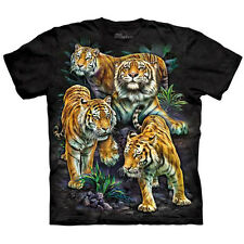 BENGAL TIGER COLLAGE T-Shirt The Mountain Endangered Species Animal Sizes S-5XL