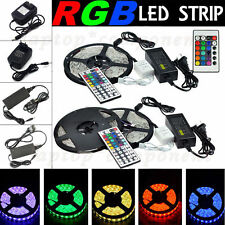5M SMD 5050 3528 RGB 300Led Party Flexible Strip Light+Remote+12V Power Supply