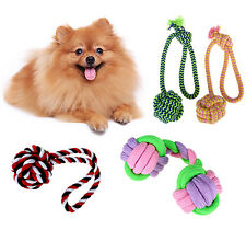 Chew Toy With Knot Fun Tough Strong Puppy Pet Dog Cat Tug War Play Cotton Rope
