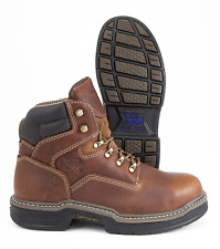 Wolverine Raider Multishox W02419, Brown Leather Steel Toe Ankle Boot
