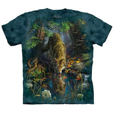 The Mountain ENCHANTED WOLF POOL T-Shirt Wolves Nature Wildlife S-5XL NEW!