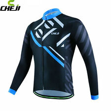 CHEJI Team Mens Team Ropa Ciclismo Cycling Clothing Outdoor Bicycle Long Sleeve