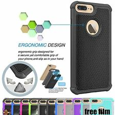Anti-slip/Dust Shockproof Rubber Impact Hard Case Cover for iPhone 7/7 Plus+Film