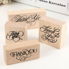 Pop Natural Vintage Thank You Wooden Rubber Stamp Craft Wedding Party 4 Styles