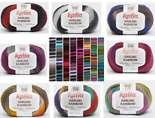 11€/3.5 oz Katia Darling Rainbow Wool with Merino Sock yarn Lace Colour gradient