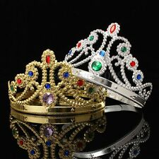 Royal Crown King Queen Jewels Adult Christmas Halloween Medieval Costume Hat New