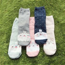 Molang korea Charater Fashion Women Casual Cute color Socks - bigface