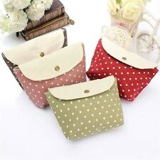 Cute Cosmetic Multifunction Purse Wallet Polka Dot Clutch Storage Bag Makeup