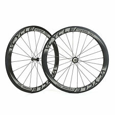 VCYCLE Nopea50 Powerway R36 50mm Tubular Straight Pull Carbon Road Bike Wheelset