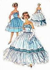 #189 ROCKABILLY SHORT DRESS OR EVENING GOWN  PATTERN