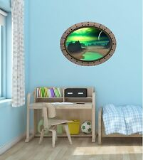 Porthole Spaceship Space Window ALIEN PLANET #2 OVAL Wall Sticker Decal Graphic