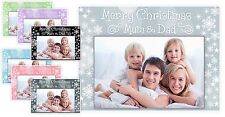 Personalised Mum Dad Nan Grandad Aunt Uncle Christmas Card Photo Magnet Gift A5