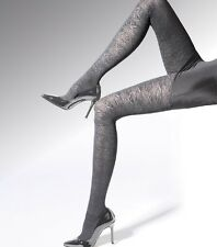 "Womens Grey Patterned  Tights ""Luxury"" 50 Denier"