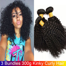 3 Bundle 300g Curly Weave Brazilian Virgin Hair Kinky Curly Human Hair Extension