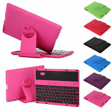 NEW Stand Cover Case W/ Swivel Rotary Bluetooth Wireless Keyboard for iPad 4/3/2