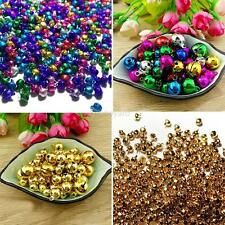 300PC Christmas Mix Color Loose Beads Small Jingle Bells Xmas Decoration Gift